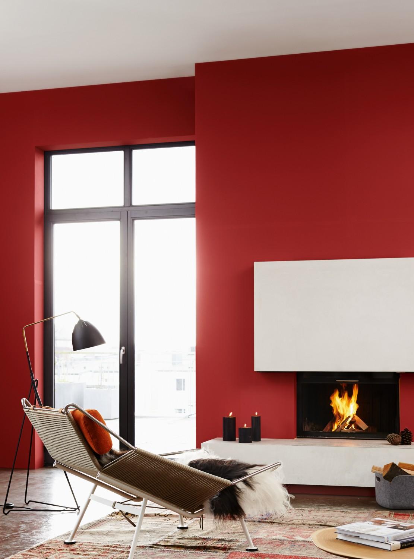Einzigartige zimmergestaltung mit den rot und for Zimmergestaltung farben