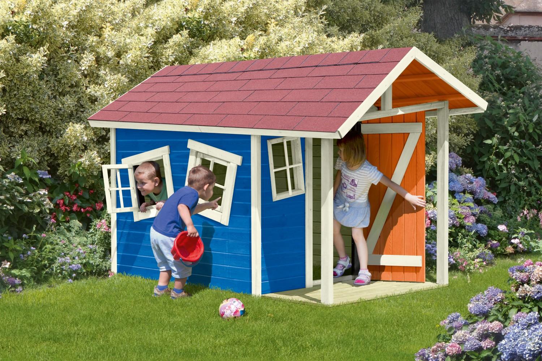 Arbeitsschutz Ein eigenes Spielhaus – ganz individuell coloriert - von Delta Gartenholz - News, Bild 1