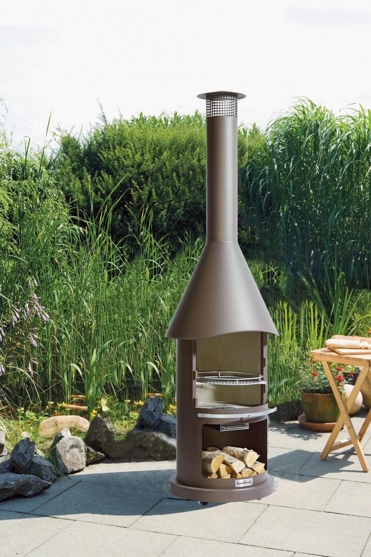 grill und kamin in einem: mit einem fire & style-edelstahlofen von