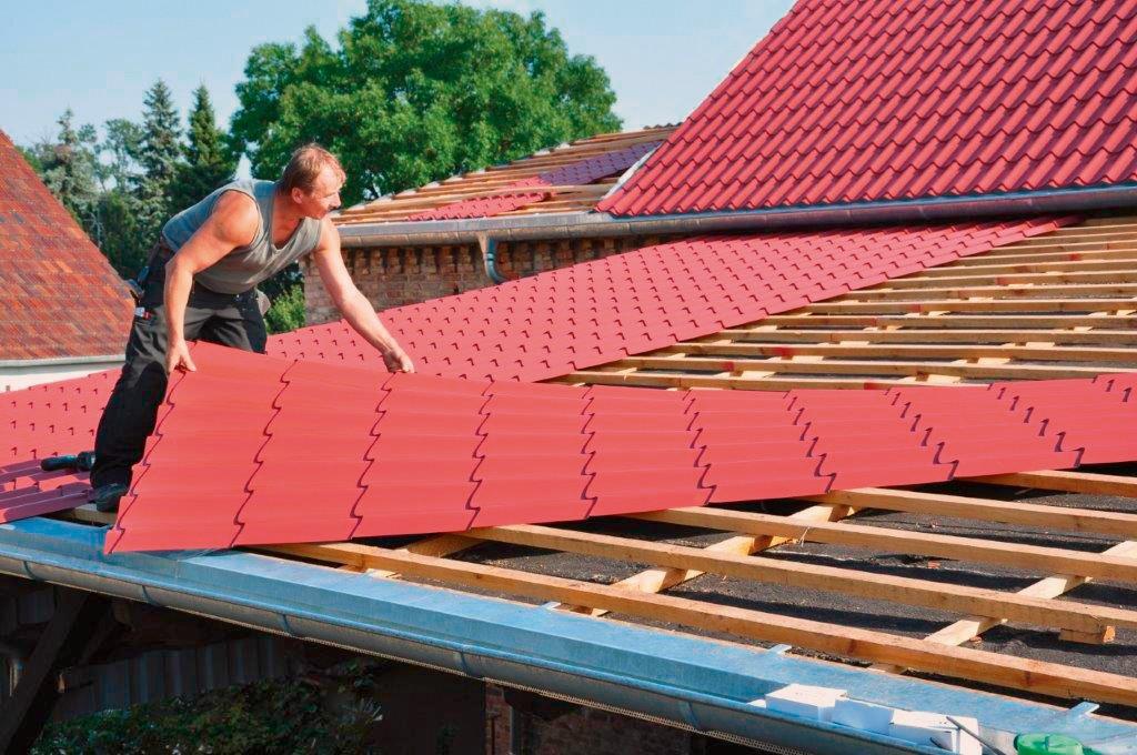 bitumen und asbestd cher jetzt sanieren metalldachplatten von luxmetall zum nachr sten. Black Bedroom Furniture Sets. Home Design Ideas