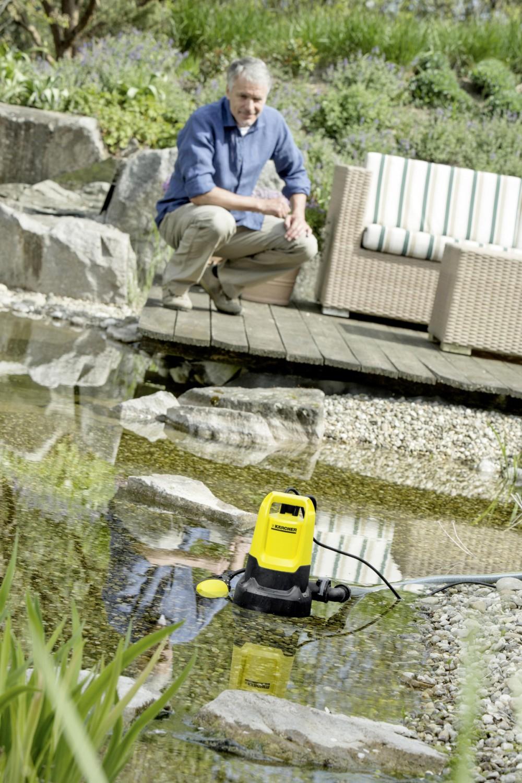 teich gro putz im fr hjahr mit k rcher schmutzwasserpumpen. Black Bedroom Furniture Sets. Home Design Ideas