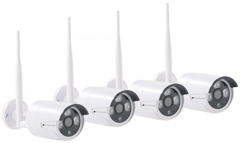 komplett berwachungssystem von visortech mit vier kameras. Black Bedroom Furniture Sets. Home Design Ideas
