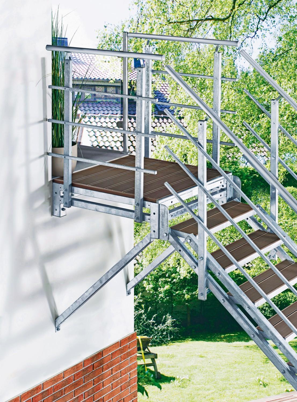 """Rund ums Haus Elegante Stahlwangen-Außentreppe """"Hollywood"""" sorgt für einen praktischen Zugang - News, Bild 1"""