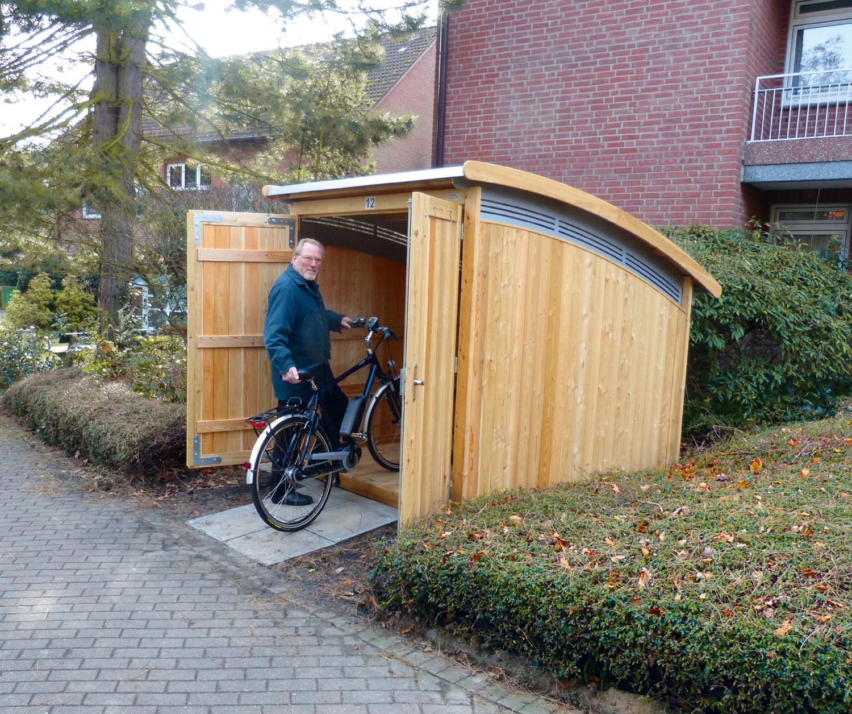 Rund ums Haus Geräumiges Fahrradhaus von die-zweiradgaragezur Selbstmontage - News, Bild 1