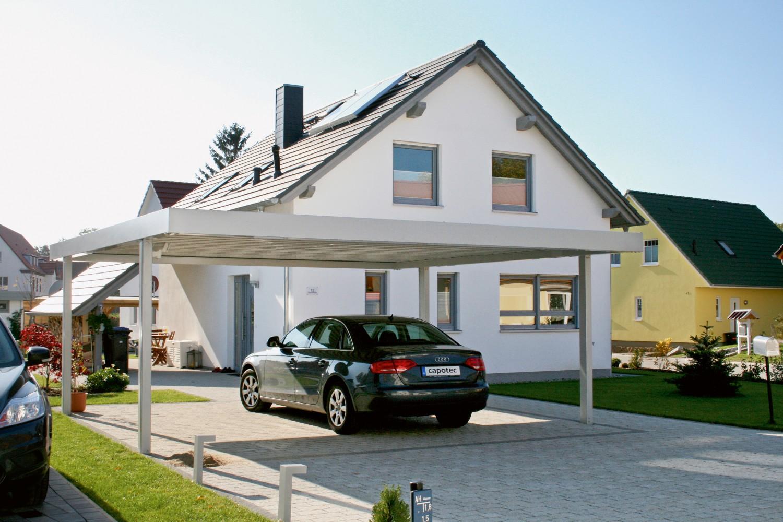 individuell gefertigte stabile carports aus stahl bieten unterstand und sicheren schutz. Black Bedroom Furniture Sets. Home Design Ideas