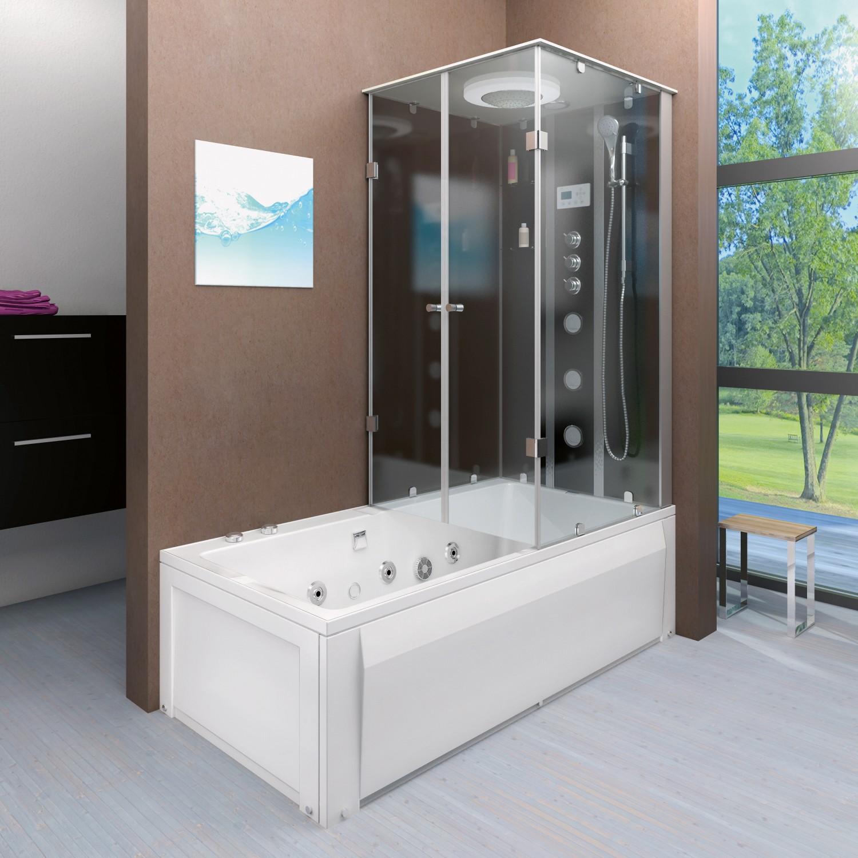 Kombilösung von Trendbad24 vereint die Vorteile von Badewanne und Dusche