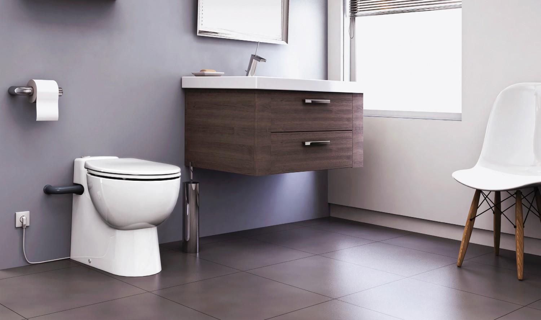 Rund ums Haus Kompakte leistungsstarke WCs mit Hebeanlage von Sanibroy - News, Bild 1