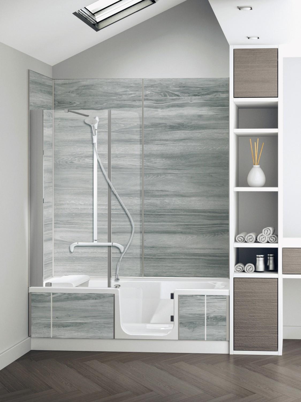 mit individuell gestaltbarer dusch badewanne duo4 von sfa sanibroy komfort erleben. Black Bedroom Furniture Sets. Home Design Ideas