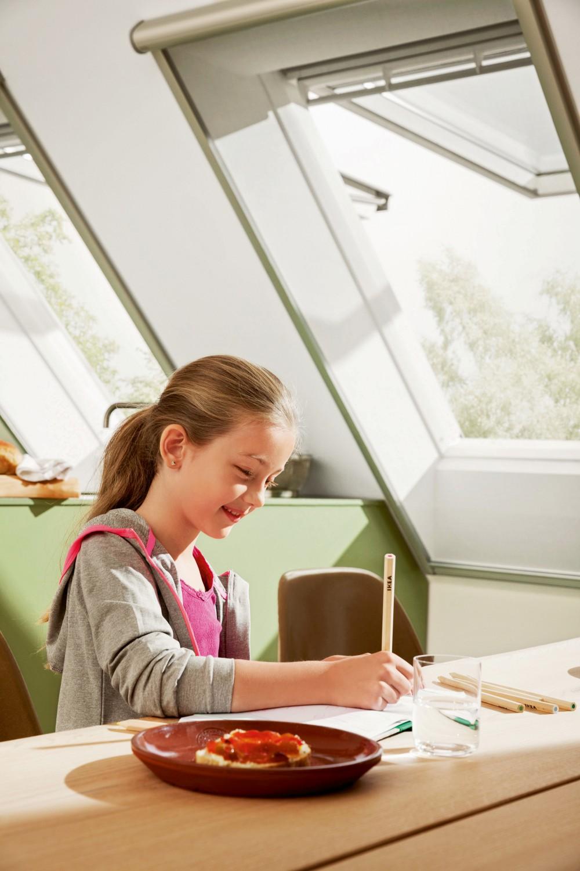 ruhige m ckenfreie n chte mit licht und luftdurchl ssigen insektenschutz rollos von velux. Black Bedroom Furniture Sets. Home Design Ideas