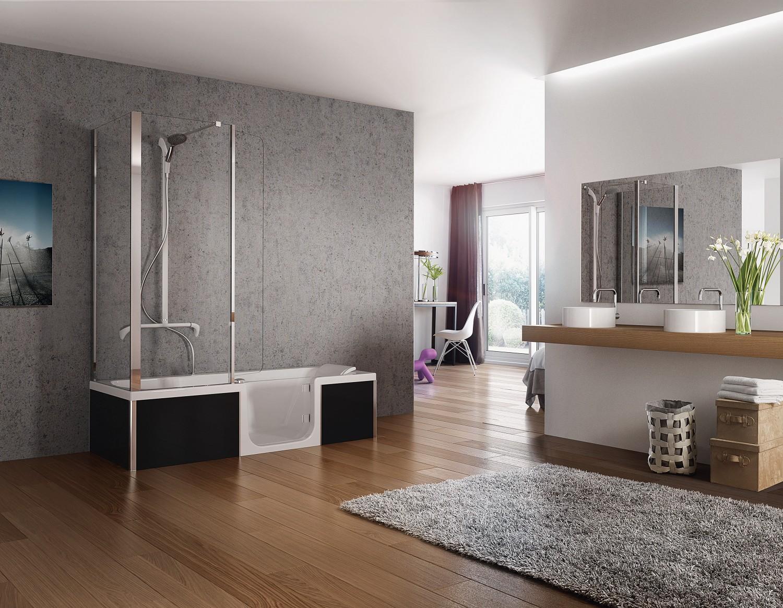 schwierige wahl duschen oder baden warum nicht einfach beides. Black Bedroom Furniture Sets. Home Design Ideas
