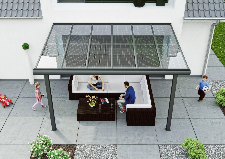 Solarmodule Von Solarcarporte De Auf Terrasse Und Carport Sparen