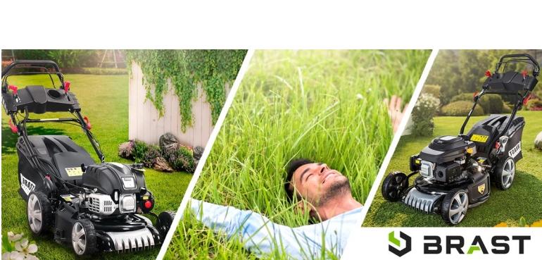 Gartengeräte Rasenpflege mit Power und Komfort  - Brast Rasenmäher mit E-Start - News, Bild 1