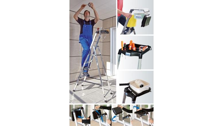Rund ums Haus Krause-Stehleiter mit MultiGrip-System: mehr Arbeitsfläche, mehr Komfort, mehr Sicherheit - News, Bild 1