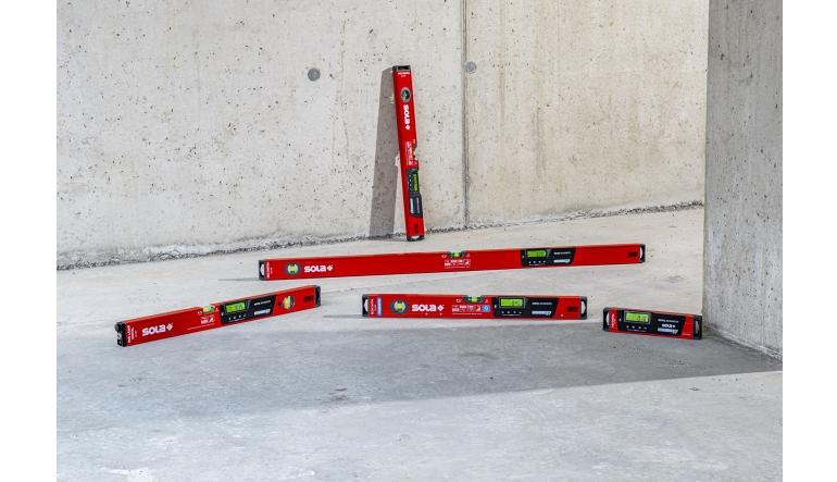 Handwerkzeuge Die Wasserwaagen Red und REDM von SOLA gibt es jetzt digital - News, Bild 1