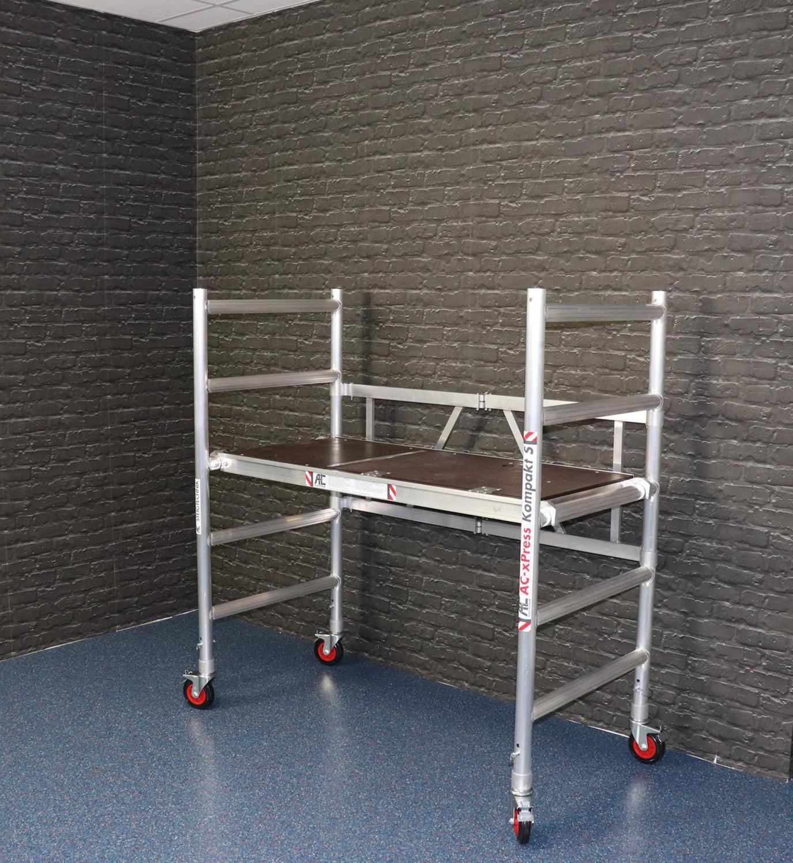 Leitern AC Steigtechnik Aluminium-Zimmerfahrgerüst Kompakt S im Test, Bild 6