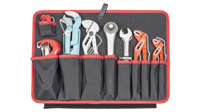 Werkzeugkoffer Alarm Werkzeuge Hartschalen- Konturen-Trolley 1-HT, komplett mit Sanitär-Werkzeugpaket 1, 45-teilig im Test, Bild 4