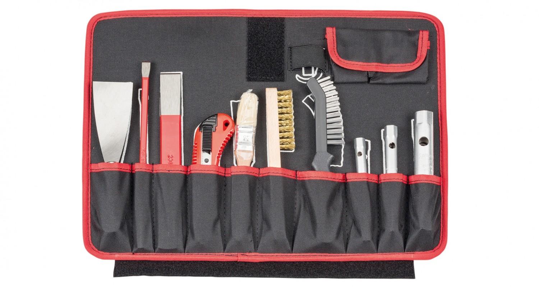 Werkzeugkoffer Alarm Werkzeuge Hartschalen- Konturen-Trolley 1-HT, komplett mit Sanitär-Werkzeugpaket 1, 45-teilig im Test, Bild 5