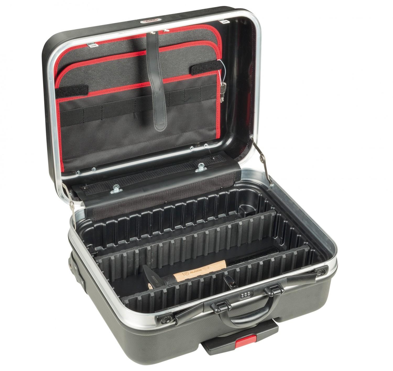 Werkzeugkoffer Alarm Werkzeuge Hartschalen- Konturen-Trolley 1-HT, komplett mit Sanitär-Werkzeugpaket 1, 45-teilig im Test, Bild 6