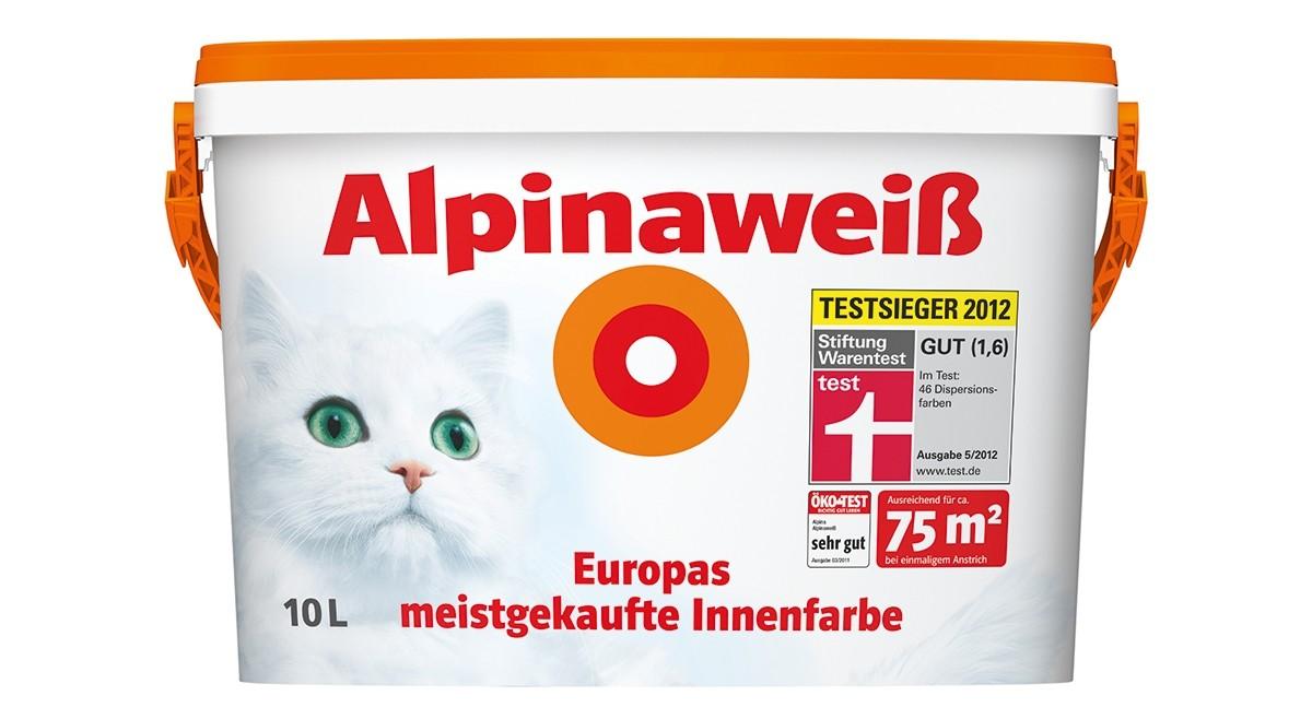 Test Innenfarben-Wand - Alpina (Farben) Alpinaweiß - sehr gut