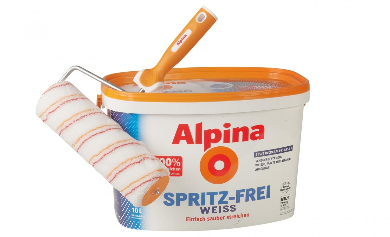 Alpina wandfarbe weis test