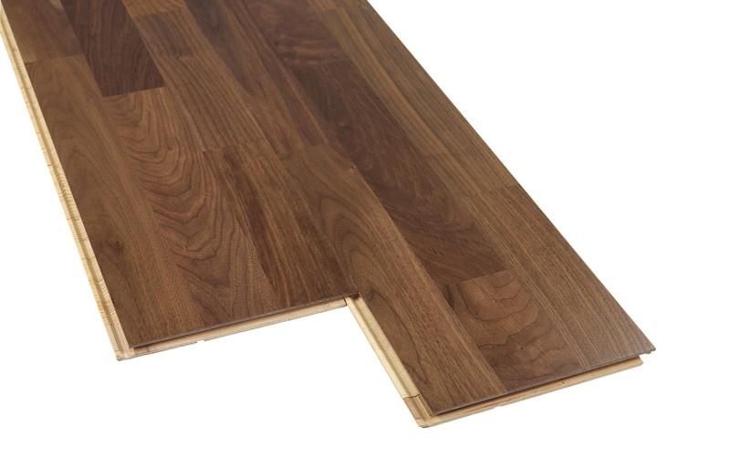 test bodenbel ge holz parkett barlinek american walnut 3 strip 2 2 m gut. Black Bedroom Furniture Sets. Home Design Ideas