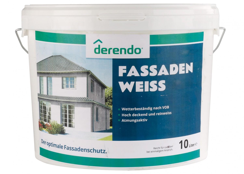 Aussenfarben-Wand Derendo Fassadenweiss im Test, Bild 2
