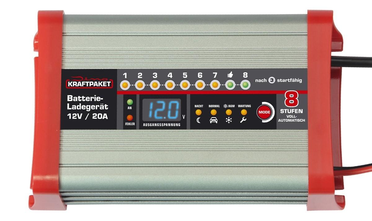 Zubehör Haustechnik Dino Kraftpaket Automatisches Baterieladegerät 12V/20A Art.-Nr.: 136320 im Test, Bild 3