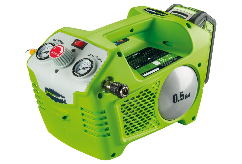 test kompressoren und druckluftwerkzeuge - greenworks 40-v-li-ion
