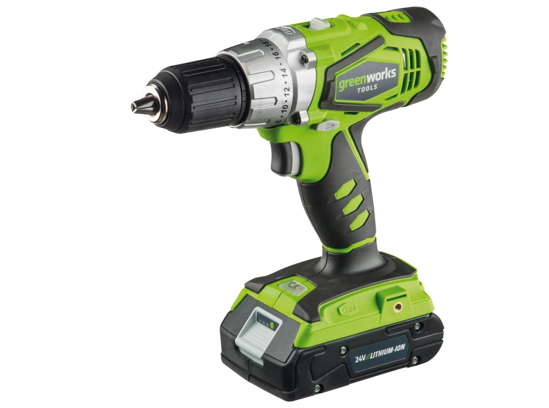 test akku-schrauber - greenworks compact drill modell 3700507a