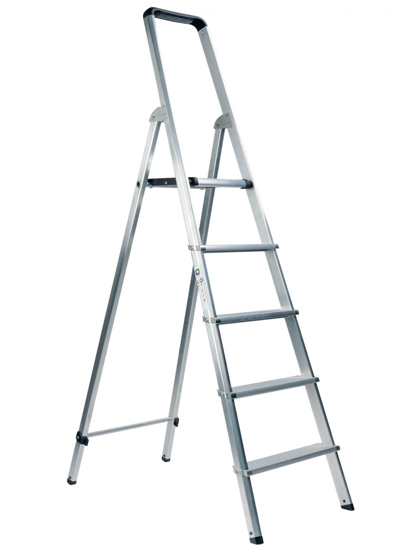 Leitern Günzburger Steigtechnik ML 5 Stufen im Test, Bild 1