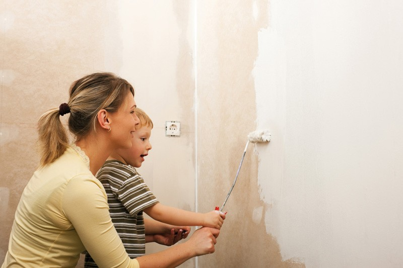 Innenfarben-Wand: Hochdeckende weiße Innenwandfarben, Bild 1