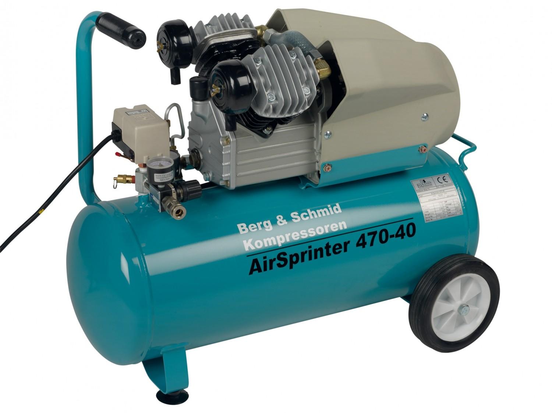 test kompressoren und druckluftwerkzeuge berg schmid air sprinter 470 40 sehr gut. Black Bedroom Furniture Sets. Home Design Ideas