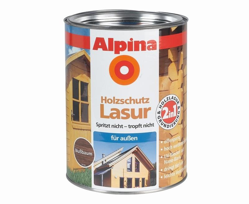 test lacke und lasuren alpina farben 2 in 1 lasur sehr gut. Black Bedroom Furniture Sets. Home Design Ideas