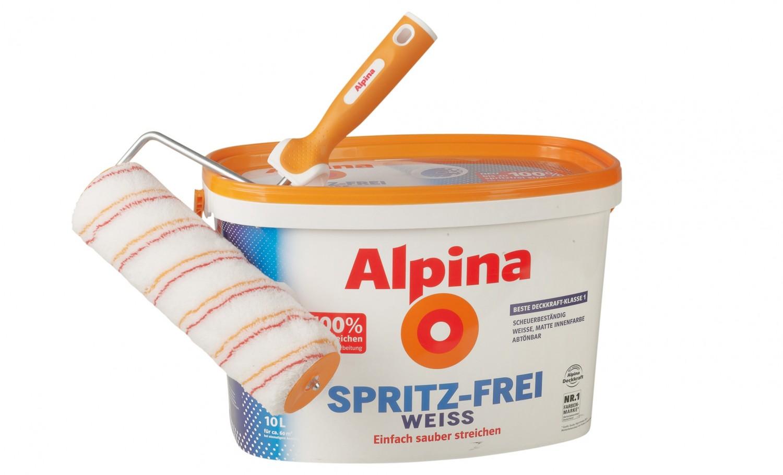 Test Innenfarben-Wand, Rund ums Haus - Alpina (Farben) Spritz-frei ...