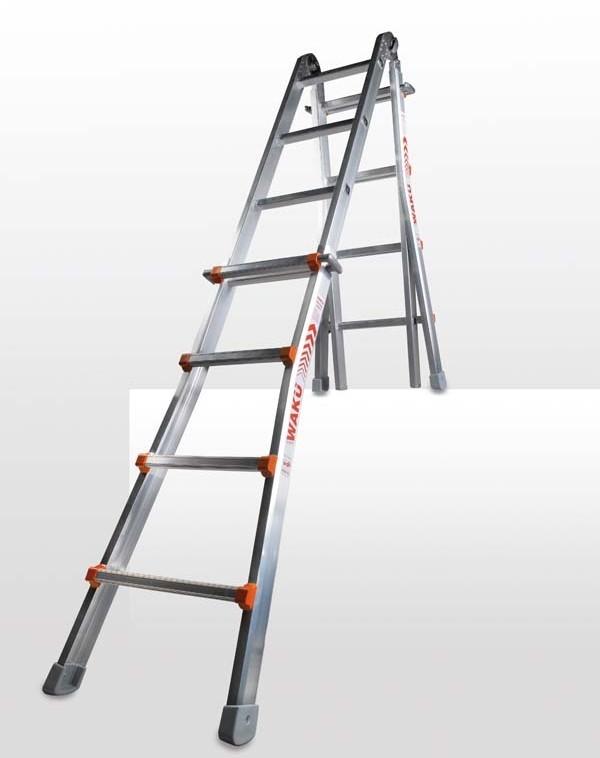 Leitern WAKÜ Teleskopleiter (1,29 - 4,20 m) im Test, Bild 1