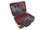 Werkzeugkoffer Alarm Werkzeuge Hartschalen- Konturen-Trolley 1-HT, komplett mit Sanitär-Werkzeugpaket 1, 45-teilig im Test, Bild 1