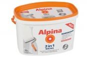 Innenfarben-Wand Alpina (Farben) 2in1 Weiss im Test, Bild 1