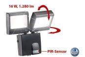 Beleuchtung Luminea Duo-LED-Außenstrahler mit PIR-Sensor NC-3974-675, Luminea LED-Fluter für den Außenbereichmit PIR-Bewegungssensor, NX-5695-675 im Test , Bild 1