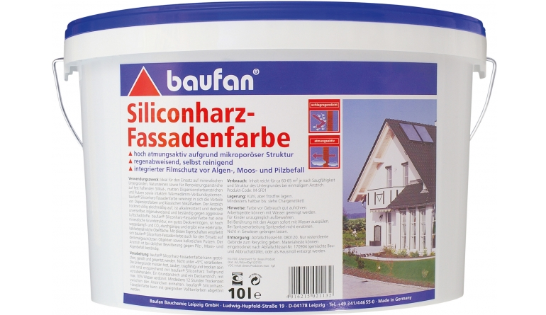 test aussenfarben wand baufan silikonharz fassadenfarbe. Black Bedroom Furniture Sets. Home Design Ideas