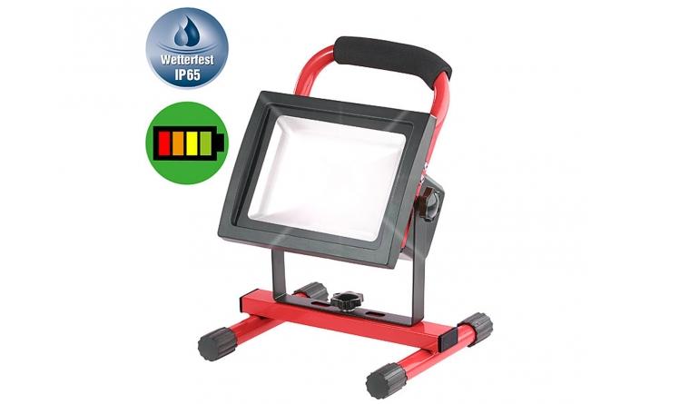 Beleuchtung Luminea LED-Akku-Baustellenstrahler mit Standsockel NX-5619-675 im Test, Bild 1