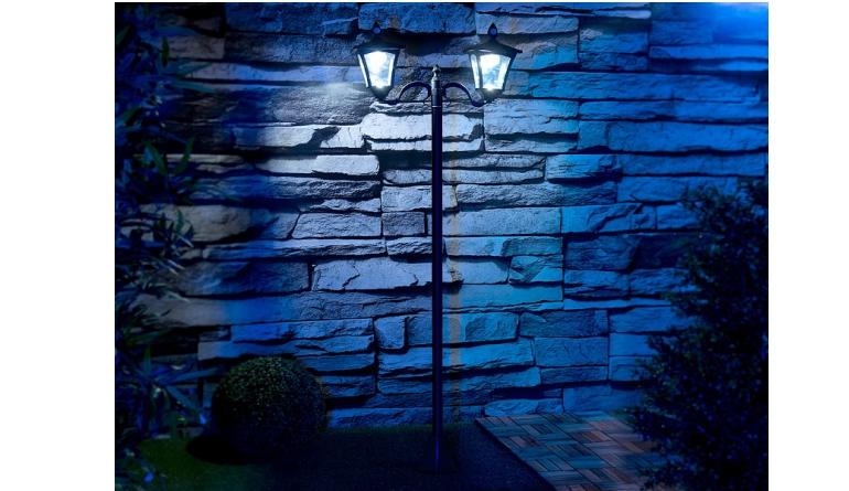 Garten-Beleuchtung Royal Gardineer 2-flammige Solar-LED-Gartenlaterne mit Bewegungs- und Dämmerungssensor im Test, Bild 1