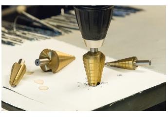 Zubehör Elektrowerkzeuge Akku drillcraft Stufenbohrer TIN im Test, Bild 1