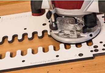 Zubehör Elektrowerkzeuge Netzbetrieb Sauter Shop Frässchablone System 32 Phenolharz inkl. Dübelbohrer SET-MFS3202-2.0 im Test, Bild 1