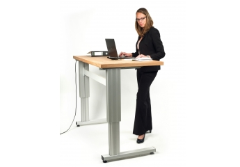 Arbeitsschutz Simplaflex höhenverstellbarer Arbeitstisch im Test, Bild 1